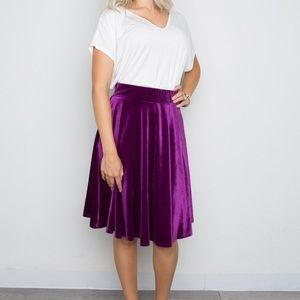 Amelia James Purple Velvet Skirt